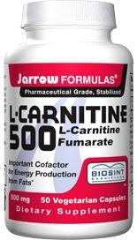 L-Carnitine  (500 mg 50 capsules) Jarrow Formulas