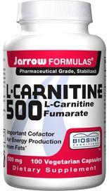 Super L-Carnitine  (500 mg 100 capsules) Jarrow Formulas