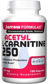 Acetyl L-Carnitine (250 mg 120 capsules) Jarrow Formulas