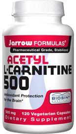 Acetyl L-Carnitine (500 mg 120 capsules) Jarrow Formulas