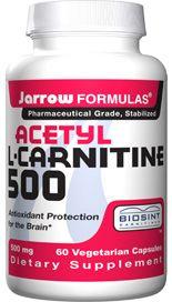 Acetyl L-Carnitine (500 mg 60 capsules) Jarrow Formulas