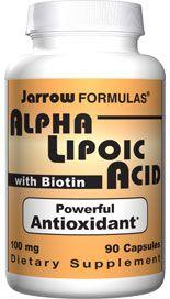 Alpha Lipoic Acid (100 mg 90 capsules) Jarrow Formulas
