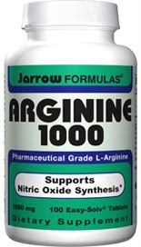 L-Arginine (1000 mg 100 tablets) Jarrow Formulas