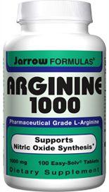 L-Arginine (1000 mg 100 tablets) Jarrow Formulas