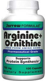 Arginine  plus  Ornithine (750 mg 100 capsules) Jarrow Formulas