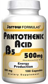 Pantothenic Acid (500 mg 100 capsules) Jarrow Formulas