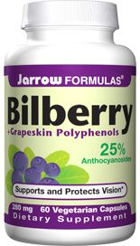 Bilberry plus  Grapeskin polyphenols (280 mg 60 capsules) Jarrow Formulas