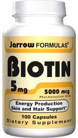 Biotin (5 mg 100 capsules) Jarrow Formulas