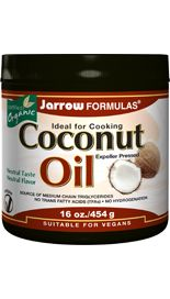 Coconut Oil 100% Organic (16 oz) Jarrow Formulas