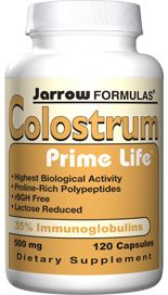 Colostrum Prime Life (500 mg 120 capsules) Jarrow Formulas