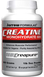 Creatine Monoydrate, 600 grams (6 grams/scoop 600 grams) Jarrow Formulas