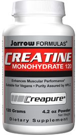 Creatine Monohydrate (6 grams/scoop 120 grams) Jarrow Formulas