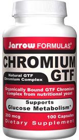 Chromium GTF (200 mcg 100 capsules) Jarrow Formulas