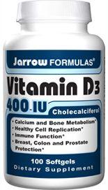 Vitamin D3 (400 IU 100 softgels) Jarrow Formulas