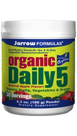 Organic Daily 5 (180 grams) Jarrow Formulas