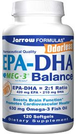 EPA-DHA Balance  (630 mg 120 softgels) Jarrow Formulas