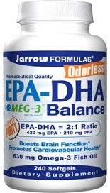 EPA-DHA Balance  (630 mg 240 softgels) Jarrow Formulas
