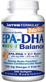 EPA-DHA Balance  (630 mg 240 softgels) Jarrow Formulas