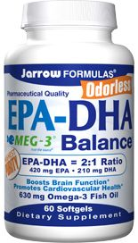 EPA-DHA Balance  (630 mg 60 softgels) Jarrow Formulas