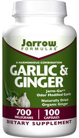 Garlic & Ginger (700 mg 100 capsules) Jarrow Formulas