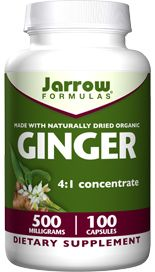 Ginger 4:1 Concentrate (500 mg 100 capsules) Jarrow Formulas