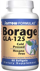 Borage GLA 125 (125 mg 60 softgels) Jarrow Formulas