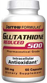 Reduced Glutathione (500 mg 60 capsules) Jarrow Formulas