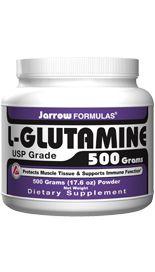 L-Glutamine  (2 grams/scoop 500 grams) Jarrow Formulas