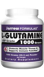 L-Glutamine  (2 grams/scoop 1000 grams) Jarrow Formulas