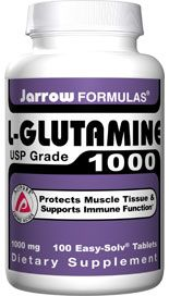 L-Glutamine  (1000 mg 100 tablets) Jarrow Formulas