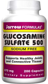 Glucosamine Sulfate  (500 mg 200 capsules) Jarrow Formulas
