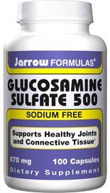 Glucosamine Sulfate  (500 mg 100 capsules) Jarrow Formulas