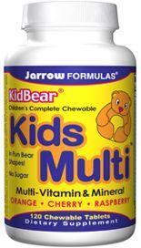 KidBear Kids Multi (120 chewable tablets) Jarrow Formulas