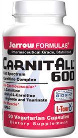 CarnitAll 600  (90 capsules) Jarrow Formulas