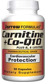 Carnitine plus Co-Q10 and B5 (50 capsules) Jarrow Formulas