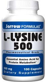 L-Lysine (500 mg 100 capsules) Jarrow Formulas