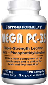Mega PC-35, Lecithin (1200 mg 120 softgels) Jarrow Formulas