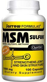 MSM Sulfur (1000 mg 100 capsules) Jarrow Formulas