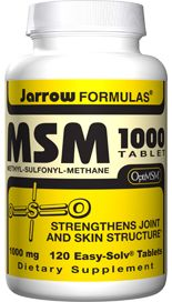 MSM 1000 (1000 mg 120 tablets) Jarrow Formulas