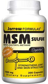 MSM Sulfur (1000 mg 200 capsules) Jarrow Formulas