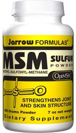 MSM Sulfur (1000 mg/scoop 7 oz) Jarrow Formulas