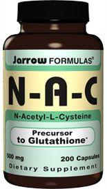 N-A-C  (500 mg 200 capsules) Jarrow Formulas