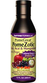 PomeZotic, Grape, Goji, Acai, and Mangosteen (12 oz) Jarrow Formulas
