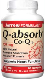 Q-Absorb Co-Q10 (100 mg 60 softgels) Jarrow Formulas