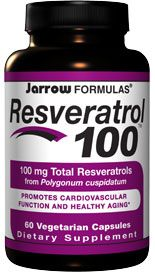 Resveratrol 100mg   (100 mg 60 capsules) Jarrow Formulas