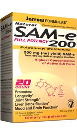 SAM-e 200 (200 mg 20 tablets) Jarrow Formulas