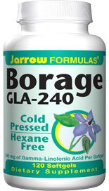 Borage GLA-240 plus Gamma Tocopherol (240 mg 120 softgels) Jarrow Formulas