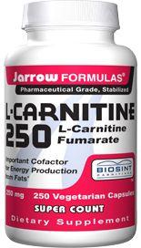 L-Carnitine (250 mg 250 capsules) Jarrow Formulas