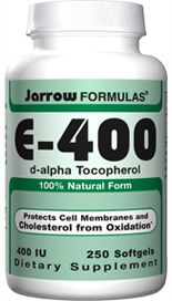 E400 (400 mg 250 softgels) Jarrow Formulas