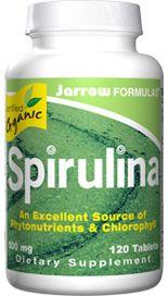 Organic Spirulina (500 mg 120 tablets) Jarrow Formulas
